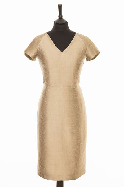 Marilyn Dress in Oyster Gold