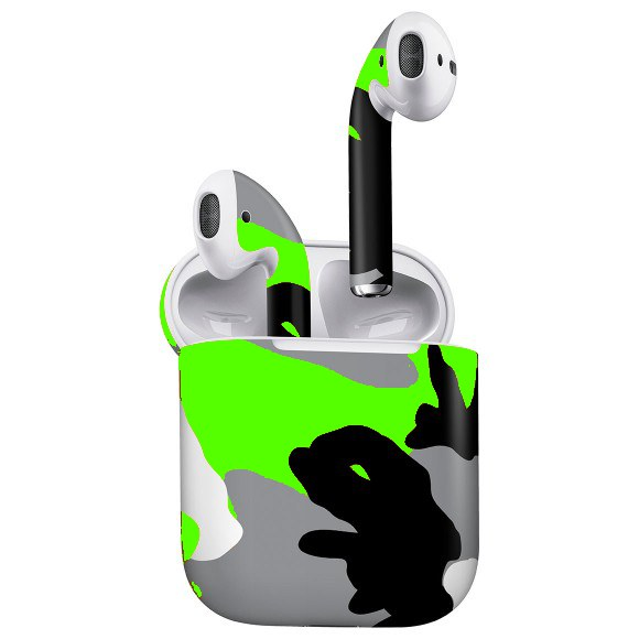 AirPods CAMO Lime Skin