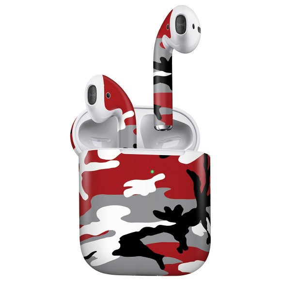 AirPods CAMO Red Skin