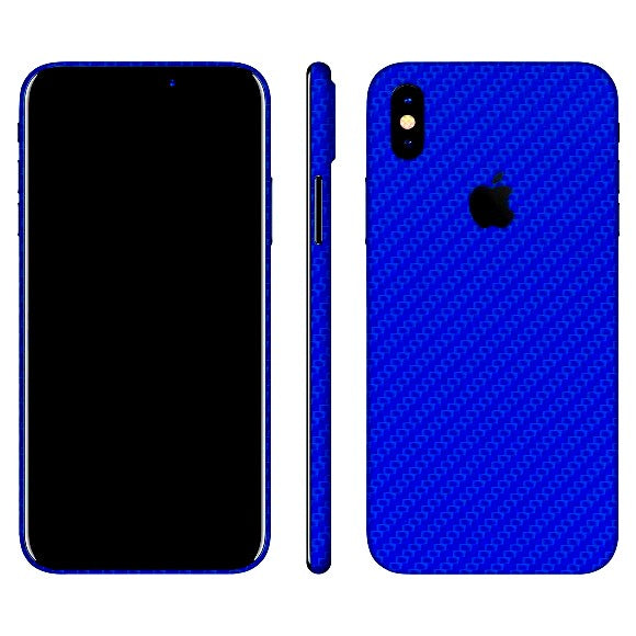 iPhone X CARBON Blue Skin