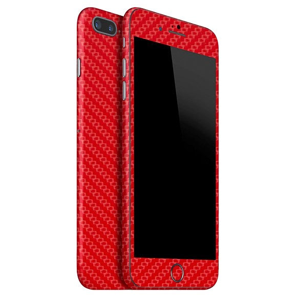 iPhone 7 Plus CARBON Red Skin