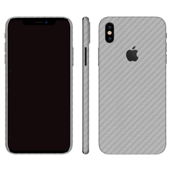 iPhone X CARBON Silver Skin