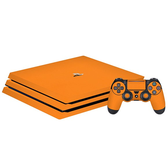 PlayStation 4 Slim GLOSS Orange Skin