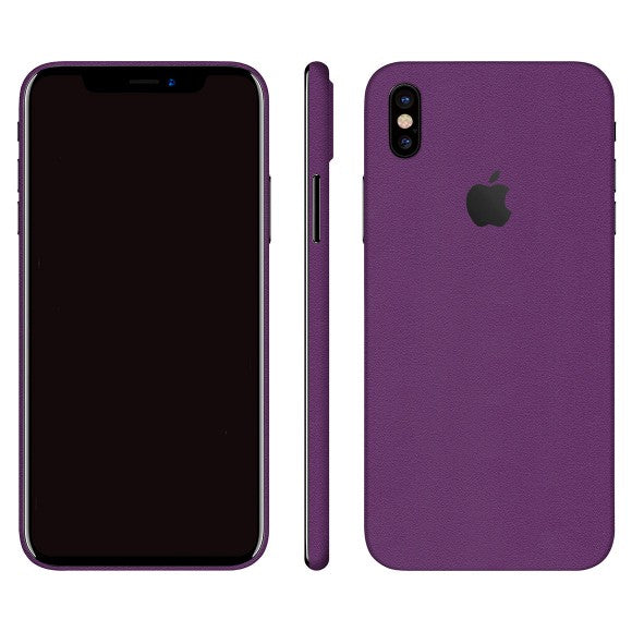 iPhone X GLOSS Purple Skin