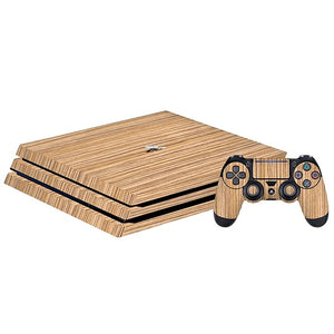 PlayStation 4 Pro WOOD Zebra Skin