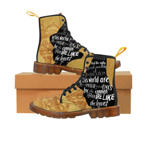 Wizard Of Oz Scarecrow Quote Men's Canvas Boots-Starry Meadows