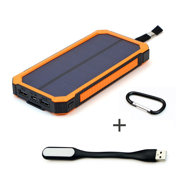 15000mAh Portable Solar Power Bank Outdoor External Battery Charger for iPhone Samsung Huawei Smartphone Xiaomi Outdoors Camping - i-bazar