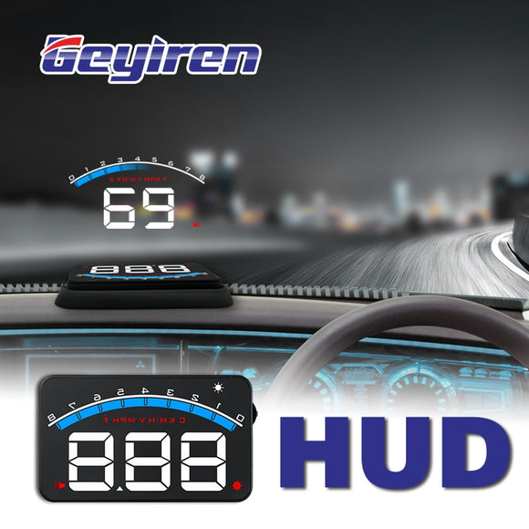 GEYIREN New M6 HUD Head Up Display Car-styling Hud Display Overspeed Warning Windshield Projector Alarm System Universal Auto M6 - i-bazar