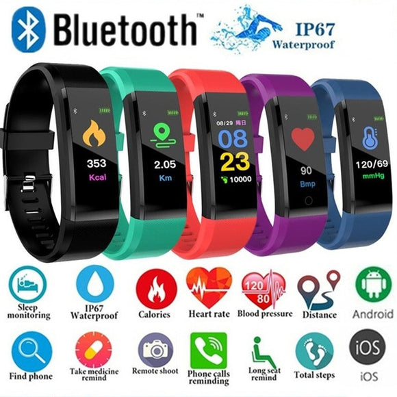 ID115Plus Smart Bracelet Sport Bluetooth Wristband Heart Rate Monitor Watch Activity Fitness Tracker Smart Band PK Mi band 2 - i-bazar