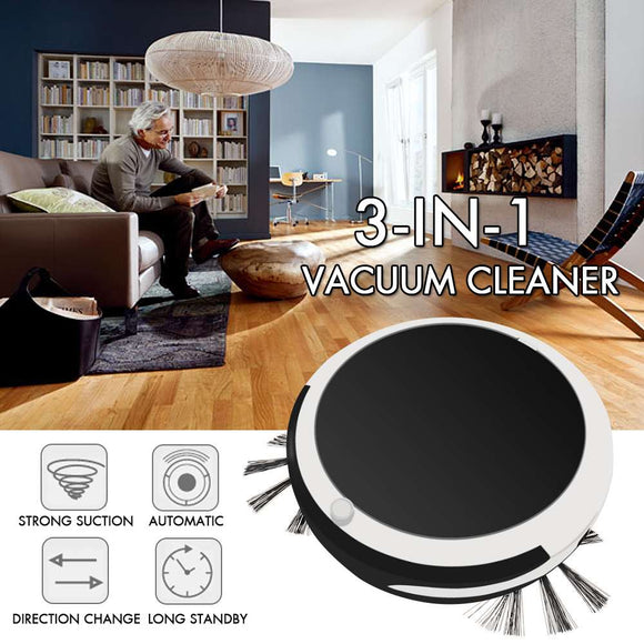 3in 1 Smart Sweeping Robot Sweep Suction Drag Machine 1200PA Wet and Dry Vacuum Cleaner Sweeping - i-bazar