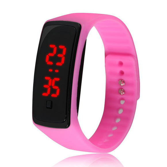 12 Colors New Fashion LED Sports Running Watch Date Rubber Bracelet Digital Wrist Watch Sports Watch Womens Mens Fitness Watch - i-bazar