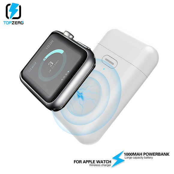 1000mAh Wireless Charger Mini Power Bank For i watch 1 2 3 4 Magnetic Portable Small Powerbank External Battery For Apple Watch - i-bazar
