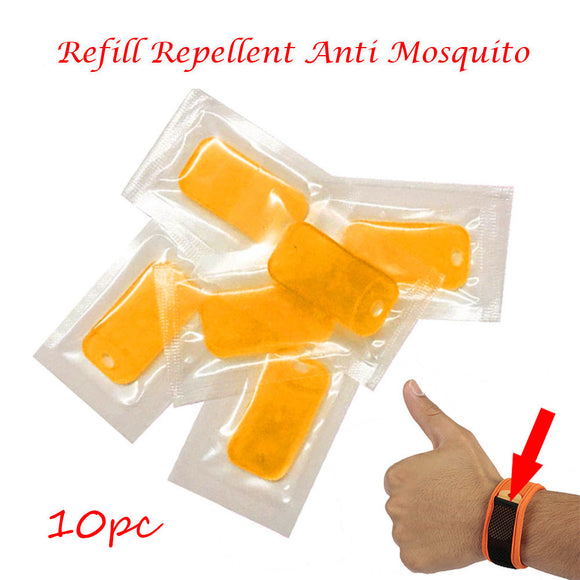 10PC Refill Repellent Anti Mosquito For Wrist Band Mosquito Bracelet Repeller Repellent sheet Pest Control Checkpoints Fishing - i-bazar