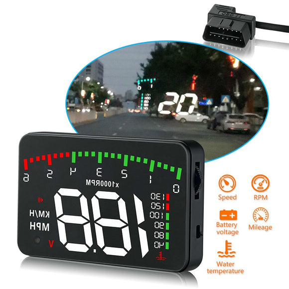 3.5 A900 HUD Head-Up Display Car-styling Hud Display Overspeed Warning Windshield Projector Alarm System Universal Auto - i-bazar