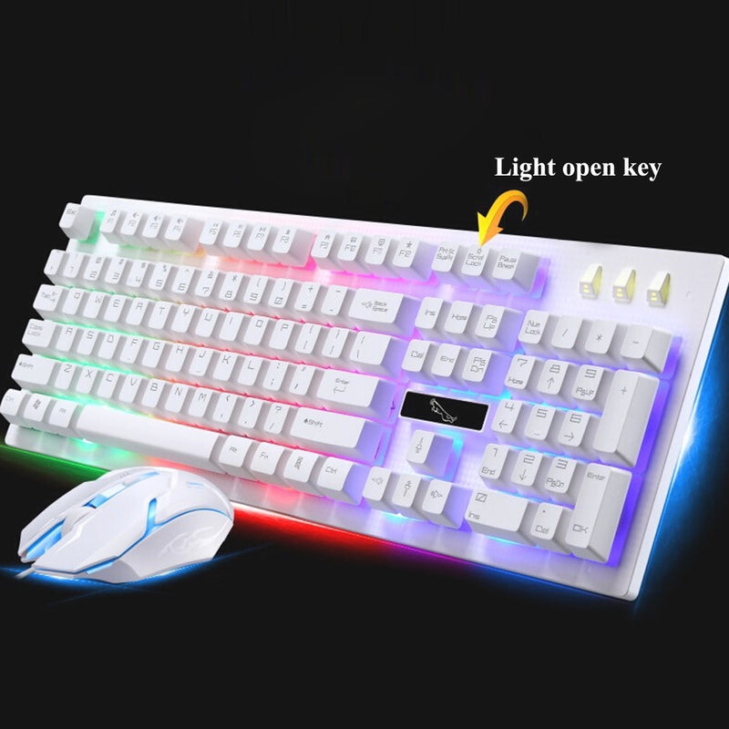 G20 Backlight LED Pro Gaming Keyboard USB Wired Powered Gamer Keyboard With 2000 DPI Mouse - Shop For Gamers