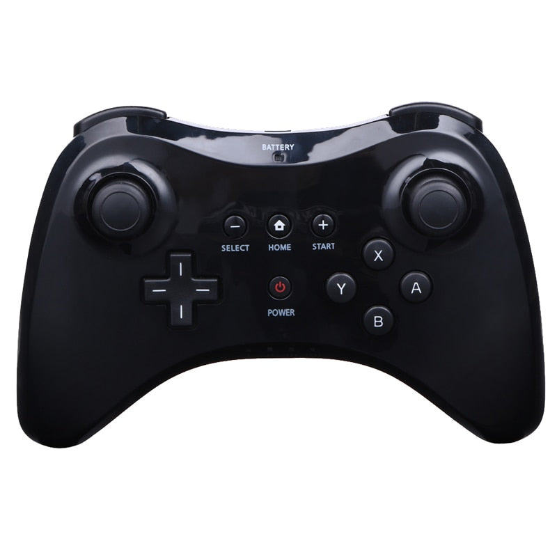 Black/White Wireless Classic Pro Controller Gamepad with USB Cable - Shop For Gamers