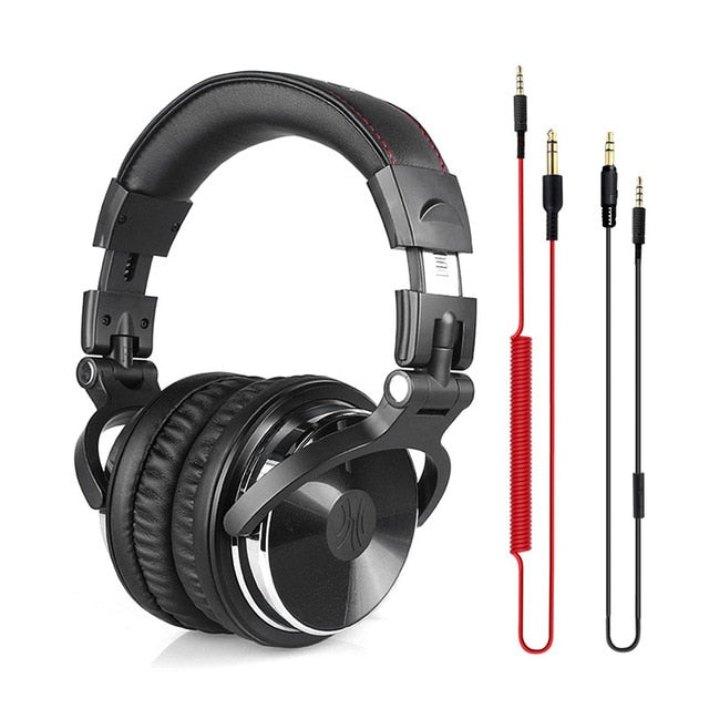 Oneodio DJ Stereo Headphones Studio Monitor Gaming Headset 3.5mm 6.3mm Cable - Shop For Gamers