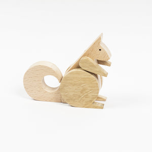 Archabits wooden toys Once Uopn A Time - squirrel - side