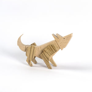 Archabits wooden toys Once Uopn A Time - wolf - side