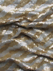 """SILVERADO"" 150CM POLYESTER SPANDEX BLEND SEQUINED AND PLAIN"