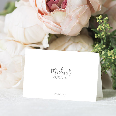 Simple Modern Place Card