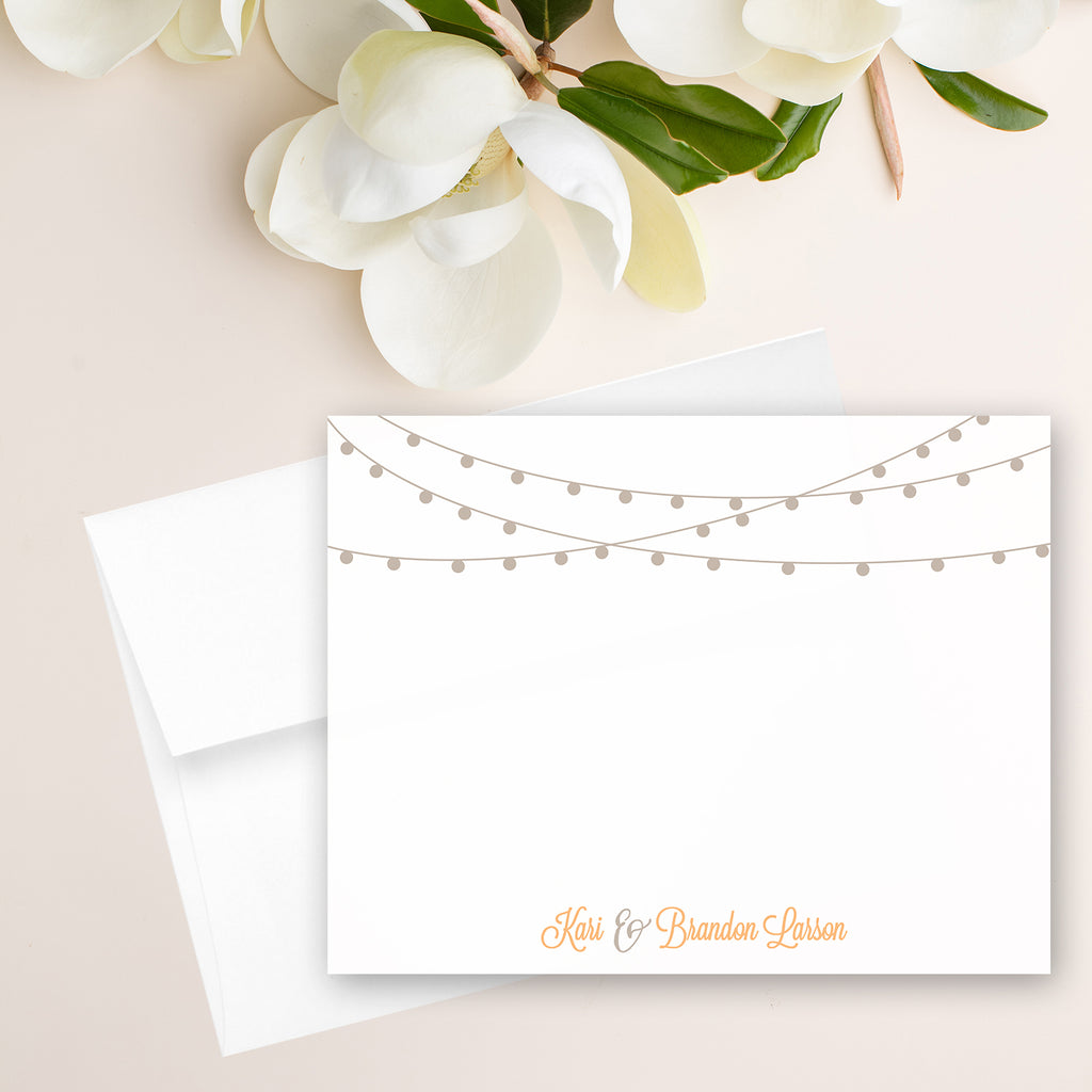 String of Lights Note Card