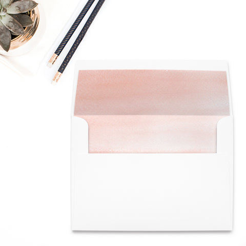 Pink Splash Envelope Liner