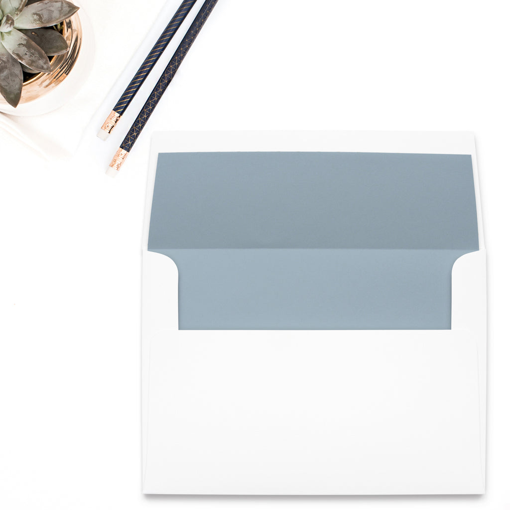 Dusty Blue Envelope Liner