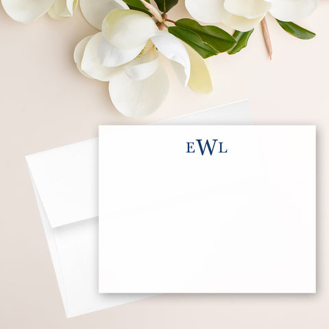 Traditional Monogram Note Card