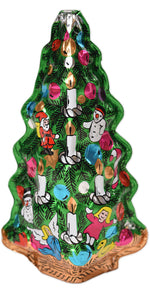 "Hollow Foiled Christmas Tree 5""  (net weight 2.5 oz)"