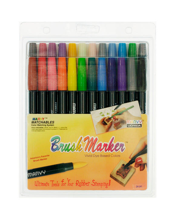 BRUSH MARKER 24 PIECE SET - Marvy Uchida