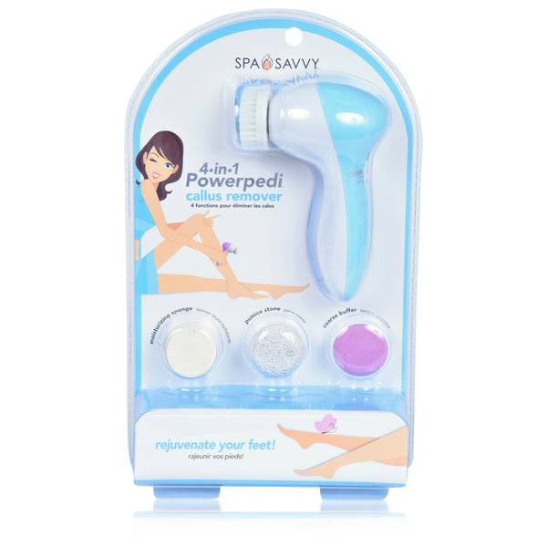 PowerPedi 4-IN-1 Callus Remover - Battery Operated