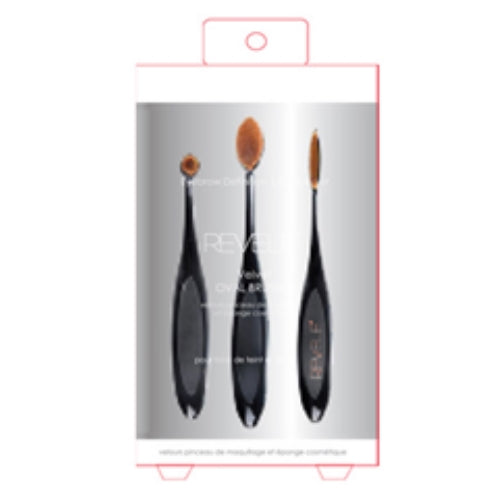 Lip, Concealer and Eyeshadow Velvet Oval Brush Set