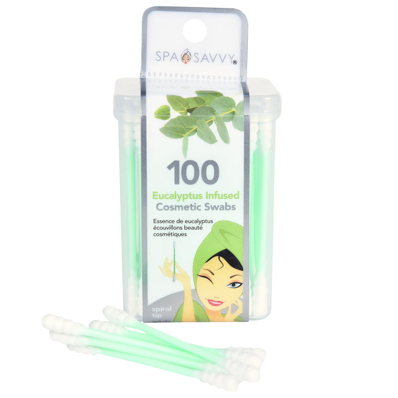 100 Count Essential Oil Infused Spiral Tip Beauty Swabs