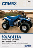 Yamaha Yfm80 Moto-4, Badger & Raptor 1985-2008 (Clymer Motorcycle Repair)