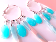 Load image into Gallery viewer, Turquoise Waterfall Earrings