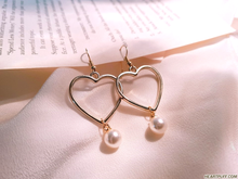 Load image into Gallery viewer, Heart Drop Earrings