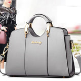 Elegant Girl's PU Leather Square Tote Bag Shoulder Bag Summer Handbag For Big Sale!- Fowish.com