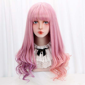 "[Garden Party] 28"" Pastel Pink and Purple Ombre Wig, Aisuru 100%, wigs- Aisuru 100%"