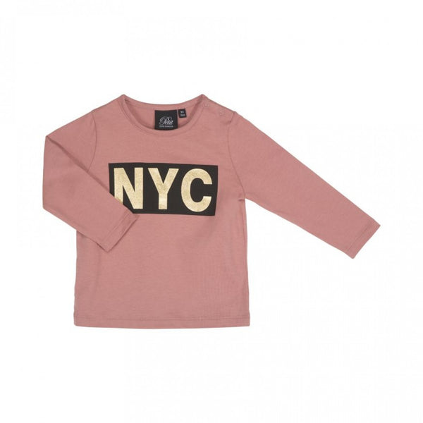 T-shirt long sleeve NYC Dusty Rose Petit by Sofie Schnoor Babykläder