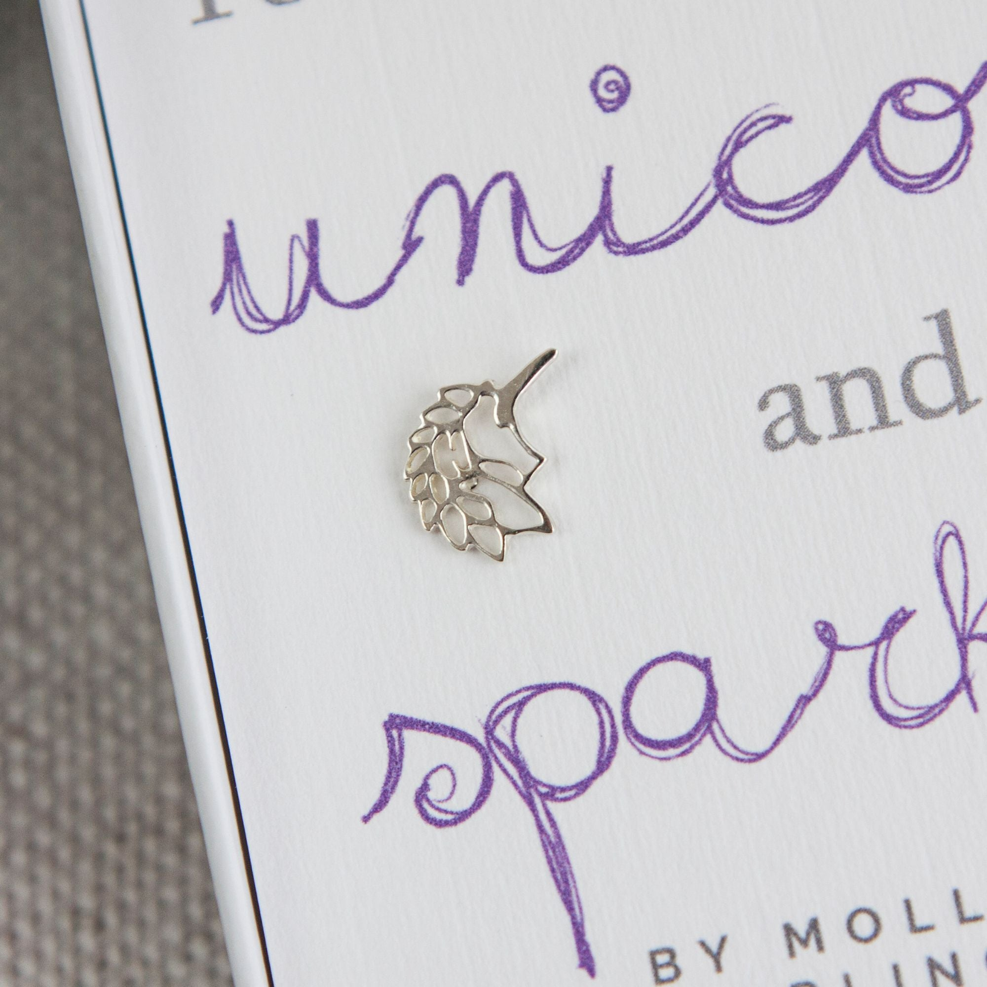 Sterling Silver Unicorn Earings-Accessories-Enpoint Dancewear