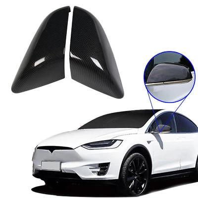 Mirror Covers For Tesla Model X 16-18 S 2014-2018 Trim ABS Plastic Carbon Fiber - NINTE