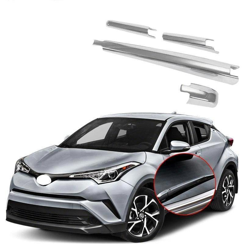 NINTE ABS Chrome Car Accessories Tail Rear Window Wipers Rain Wiper Cover Trim For Toyota C-HR CHR 2017-2019 - NINTE