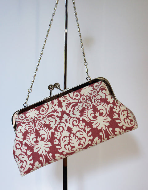 Red Damask Clutch