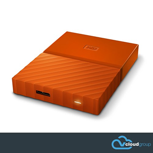Western Digital My Passport 1TB Portable Hard Drive (Orange)