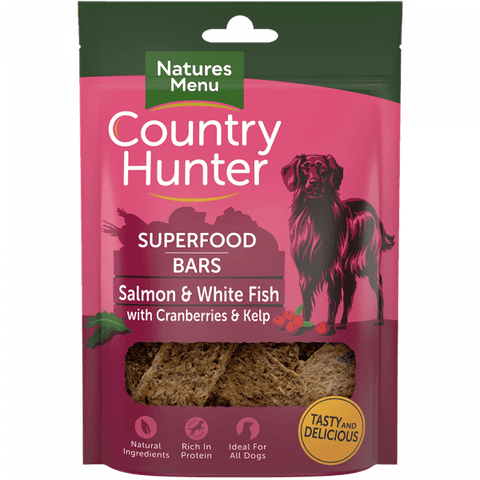 Superfood Bars Salmon & White Fish with Cranberries & Kelp Dog Treats- Jurassic Bark Pet Store Littleport Ely Cambridge