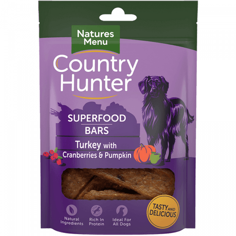 Superfood Bars Turkey with Cranberries & Pumpkin Dog Treats- Jurassic Bark Pet Store Littleport Ely Cambridge