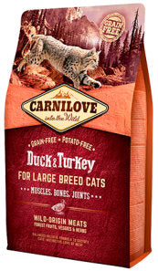 CARNILOVE Duck & Turkey for Large Breed Cats – Muscles, Bones, Joints - Jurassic Bark Pet Store Littleport Ely Cambridge