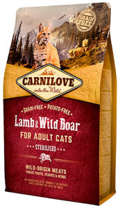 CARNILOVE Lamb & Wild Boar for Adult Cats – Sterilised - Jurassic Bark Pet Store Littleport Ely Cambridge