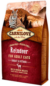 CARNILOVE Reindeer for Adult Cats – Energy & Outdoor - Jurassic Bark Pet Store Littleport Ely Cambridge